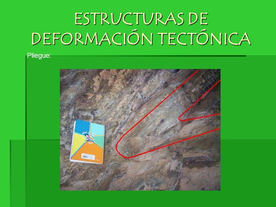 ESTRUCTURAS DE DEFORMACIÓN TECTÓNICA Pliegue: