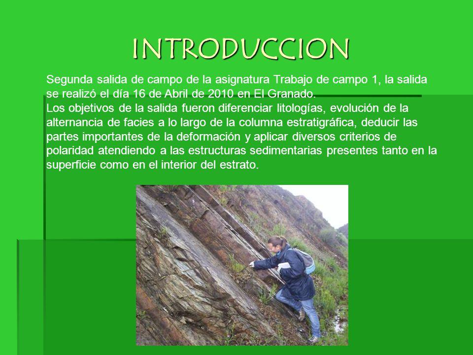 INTRODUCCION Segunda salida de campo de la asignatura Trabajo de campo 1, la salida se realizó el día 16 de Abril de 2010 en El Granado. Los objetivos