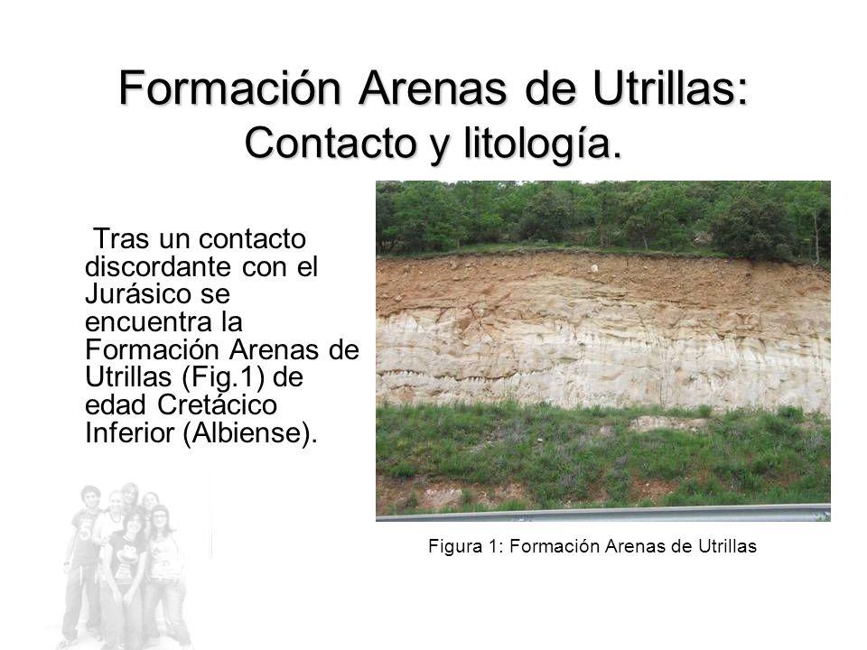 Formación Arenas de Utrillas: Contacto y litología.