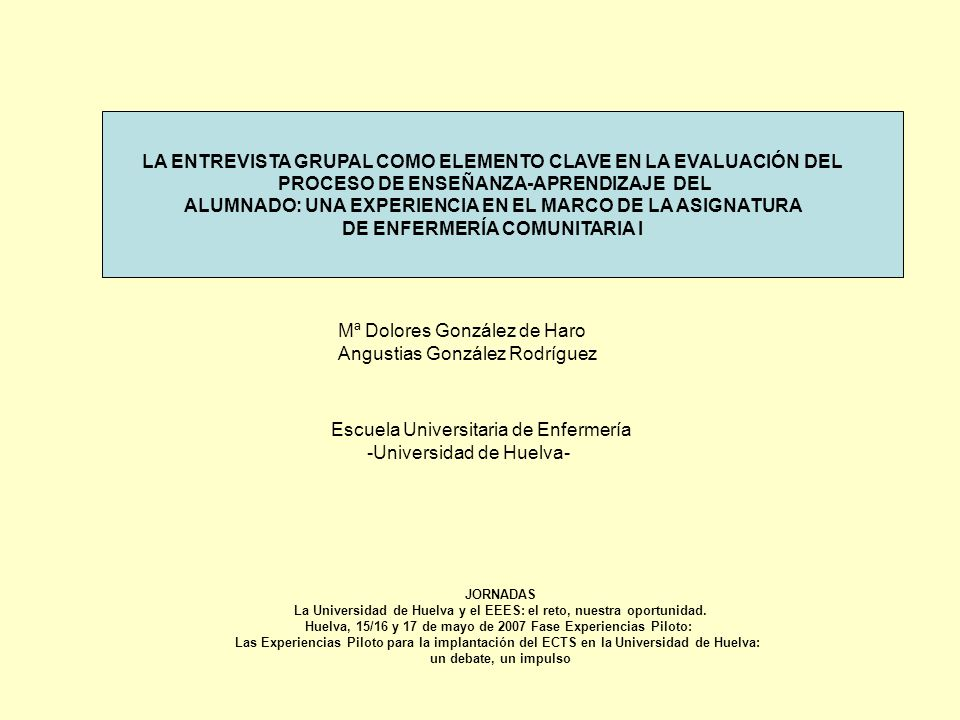 JORNADAS La Universidad de Huelva y el EEES: el reto, nuestra oportunidad.