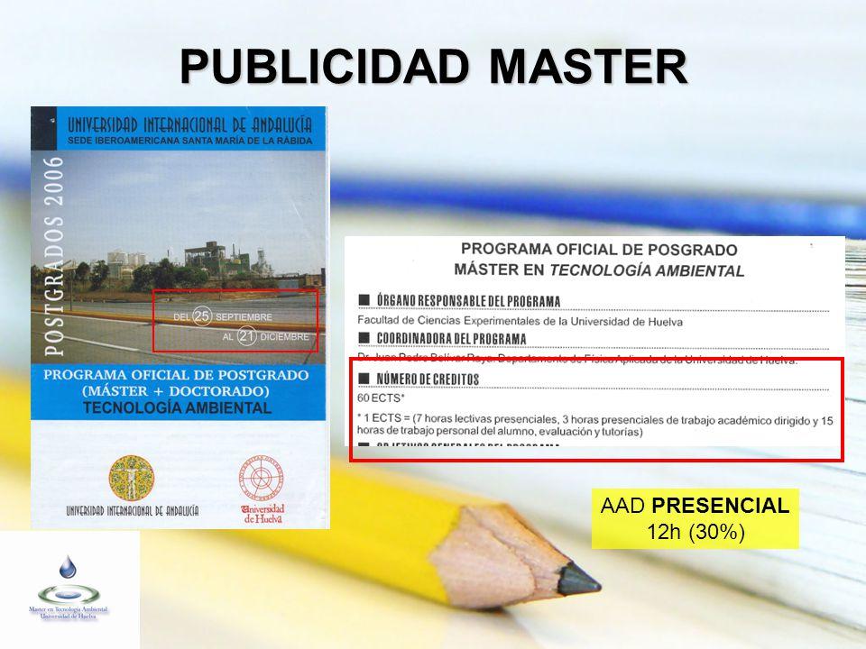 PUBLICIDAD MASTER AAD PRESENCIAL 12h (30%)