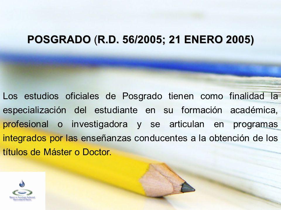 MASTER EN TECNOLOGÍA AMBIENTAL UNIVERSIDAD DE HUELVA - UNIVERSIDAD INTERNACIONAL DE ANDALUCÍA CONSORCIO DE EMPRESAS PATROCINADORAS