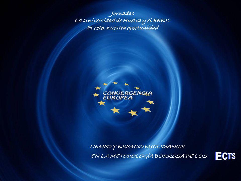 Jornadas La Universidad de Huelva y el EEES: El reto, nuestra oportunidad TIEMPO Y ESPACIO EUCLIDIANOS EN LA METODOLOGÍA BORROSA DE LOS