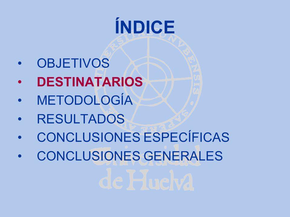CONCLUSIONES ESPECÍFICAS (i) -La actividad académicamente dirigida de trabajo , si no se puede realizar al 100% en cuanto a medios materiales y humanos se refiere, es inútil.