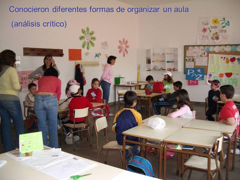 Conocieron diferentes formas de organizar un aula (análisis crítico) (análisis crítico)
