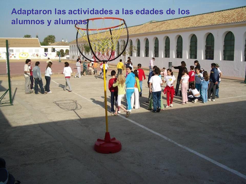Adaptaron las actividades a las edades de los alumnos y alumnas
