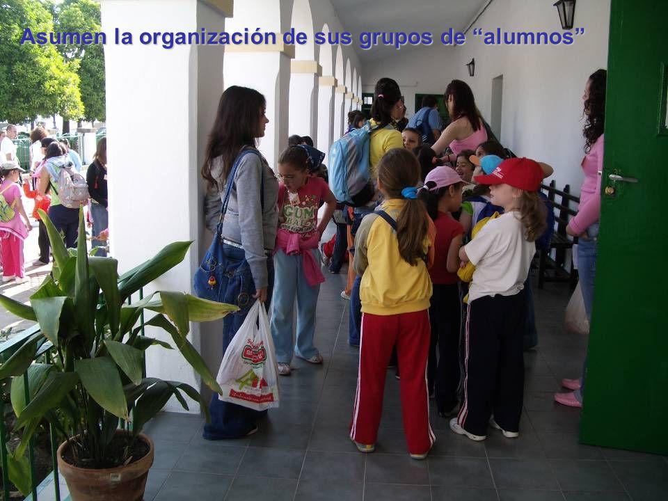 Asumen la organización de sus grupos de alumnos