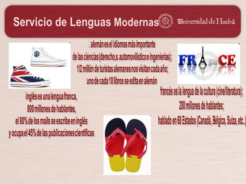 Servicio de Lenguas Modernas Razones para eligir nuestros cursos: Clases reducidas (máx.
