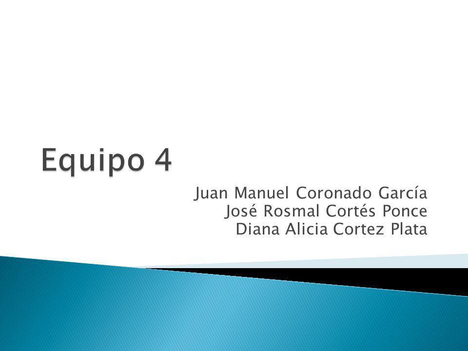 Juan Manuel Coronado García José Rosmal Cortés Ponce Diana Alicia Cortez Plata