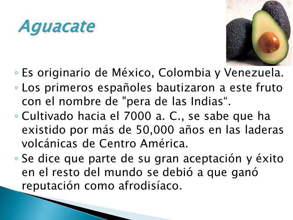 Es originario de México, Colombia y Venezuela. Los primeros españoles bautizaron a este fruto con el nombre de