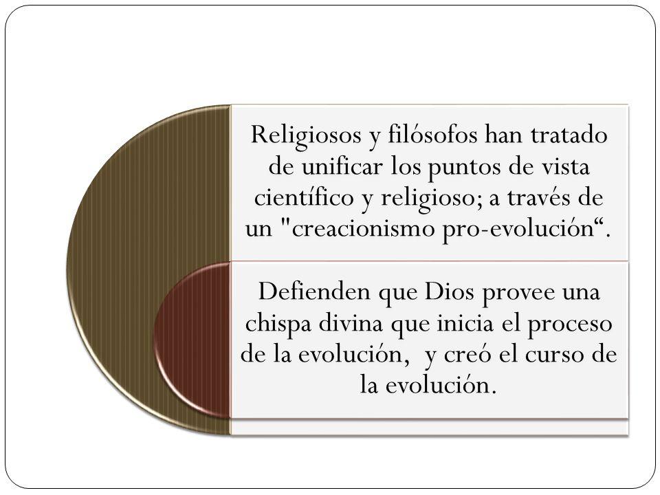 Religiosos y filósofos han tratado de unificar los puntos de vista científico y religioso; a través de un