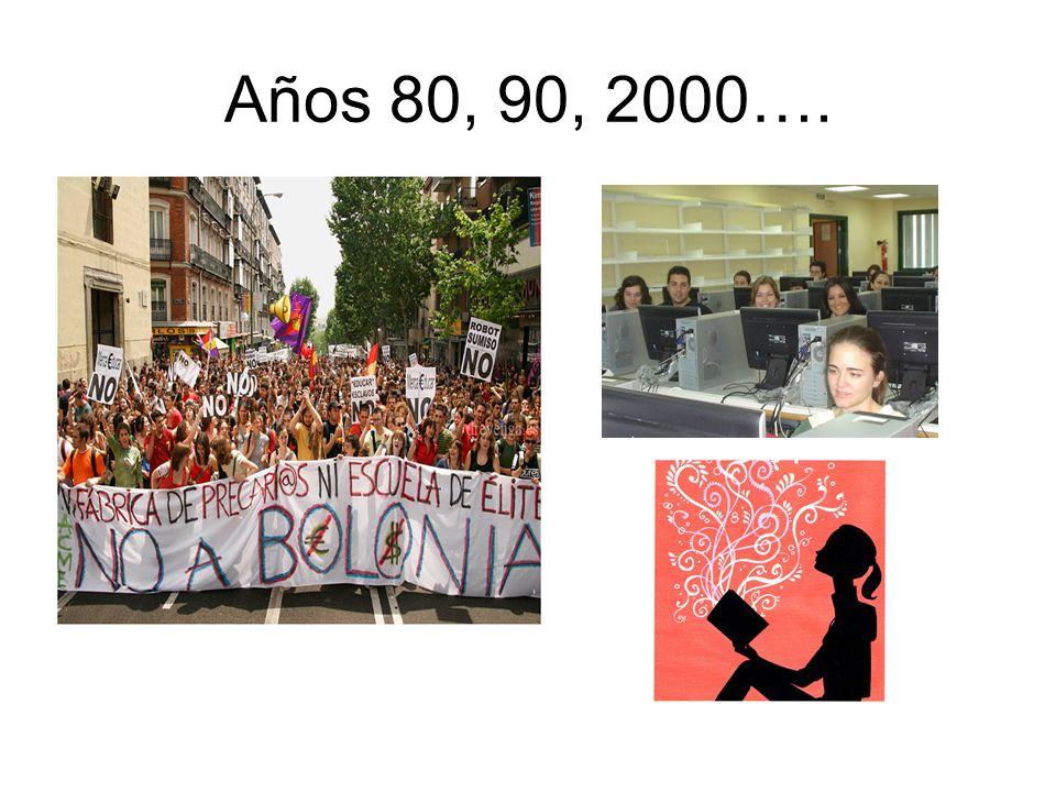 Años 80, 90, 2000….