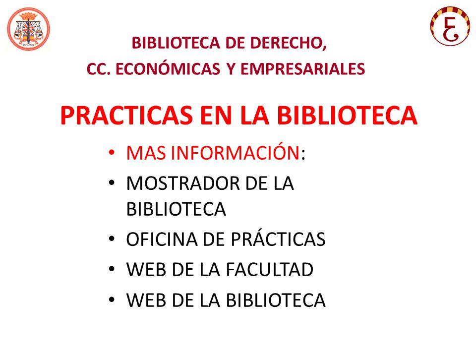 BIBLIOTECA DE DERECHO, CC.