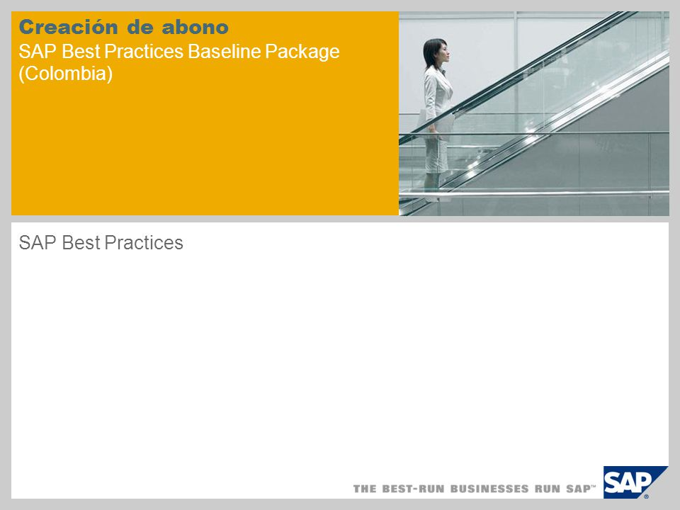 Creación de abono SAP Best Practices Baseline Package (Colombia) SAP Best Practices
