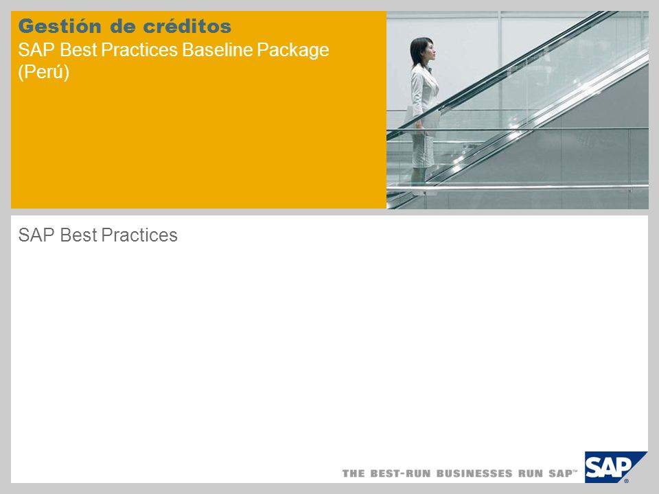 Gestión de créditos SAP Best Practices Baseline Package (Perú) SAP Best Practices