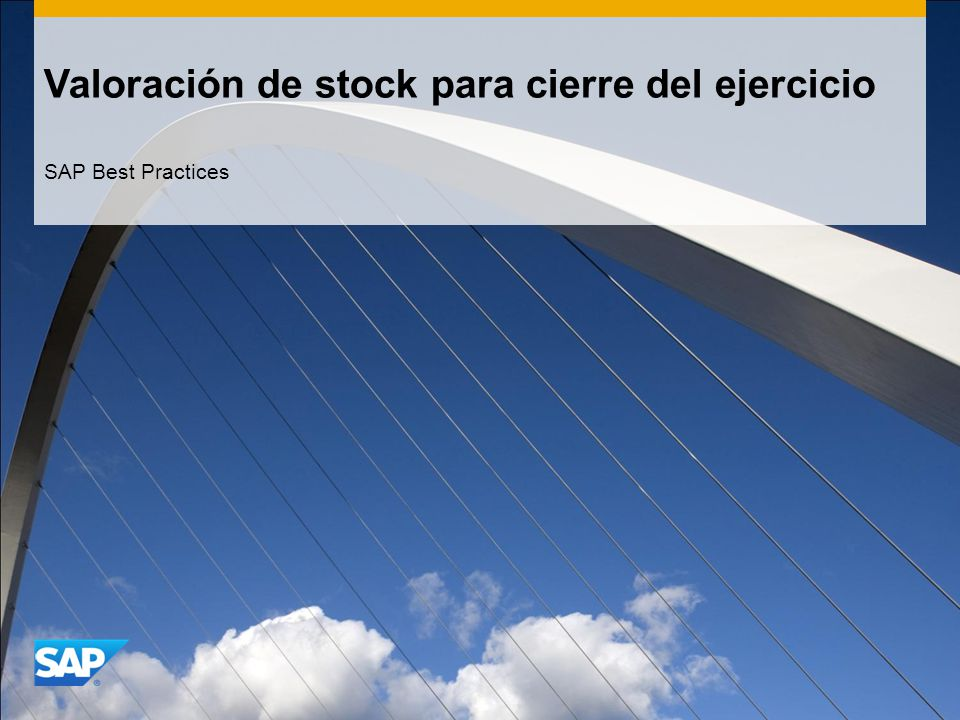 Valoración de stock para cierre del ejercicio SAP Best Practices