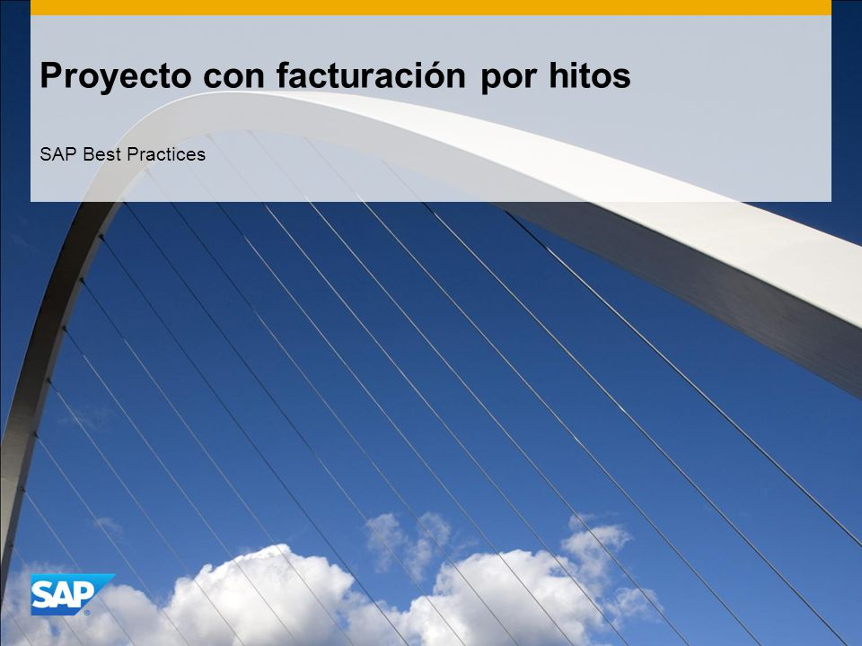 Proyecto con facturación por hitos SAP Best Practices