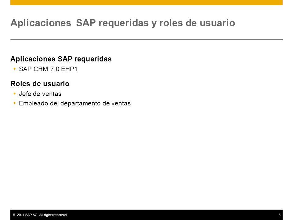 ©2011 SAP AG.All rights reserved.4 Diagrama Gestión de cuentas y contactos Empleado dep.