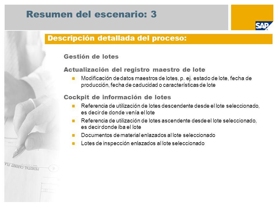 Gestión de lotes Actualización del registro maestro de lote Modificación de datos maestros de lotes, p.