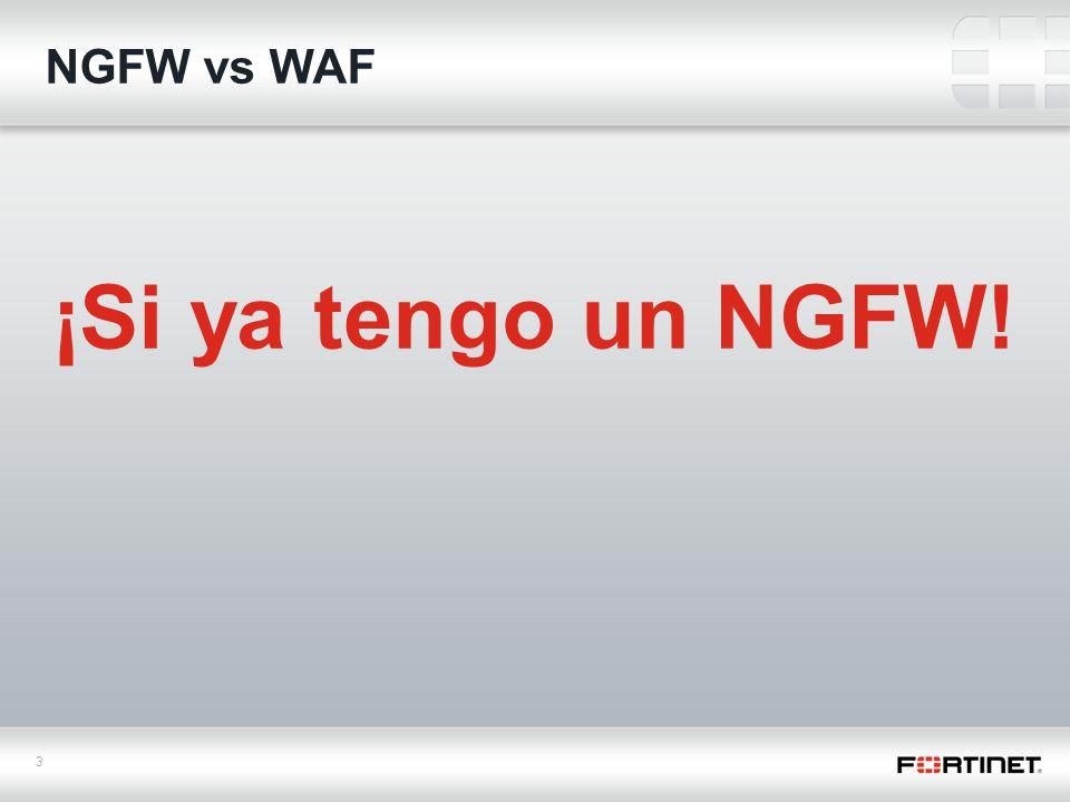 3 NGFW vs WAF ¡Si ya tengo un NGFW!