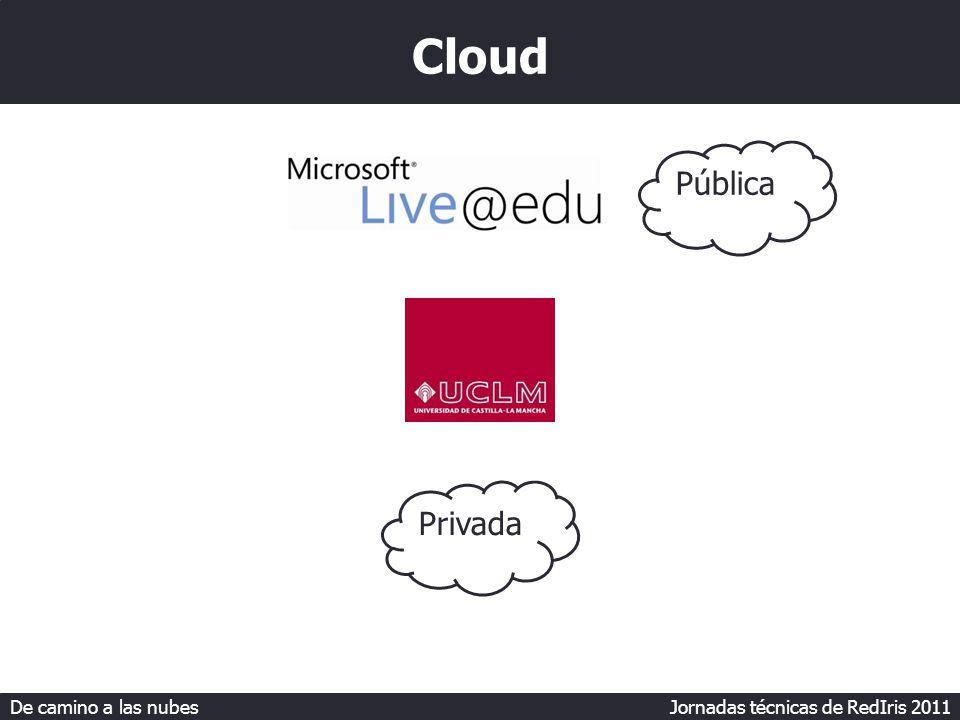 De camino a las nubes Jornadas técnicas de RedIris 2011 Cloud Pública Privada