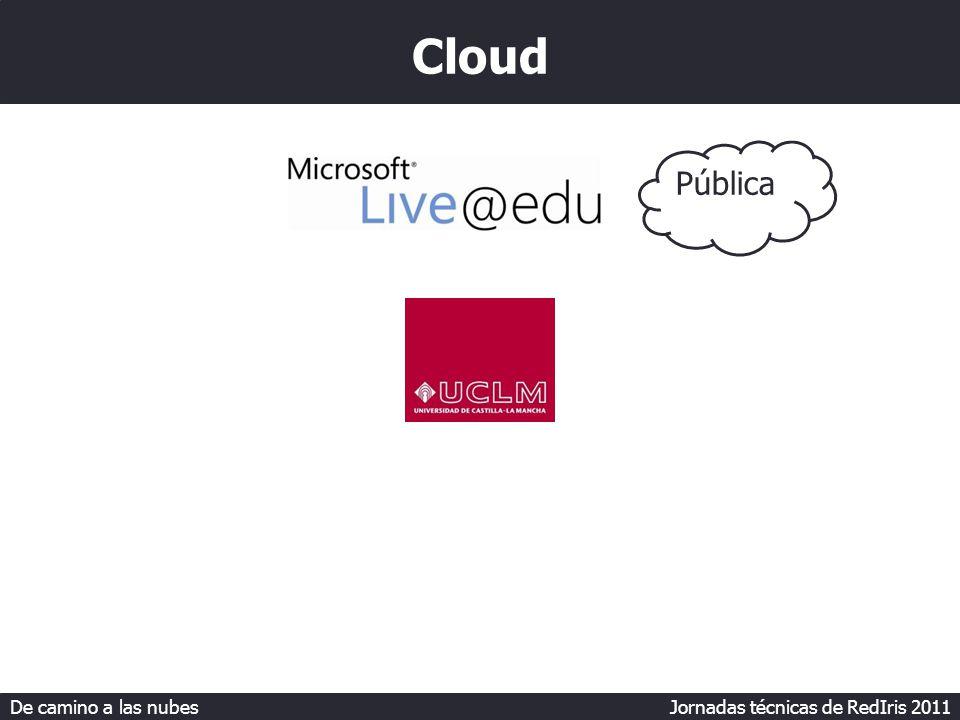 De camino a las nubes Jornadas técnicas de RedIris 2011 Cloud Pública