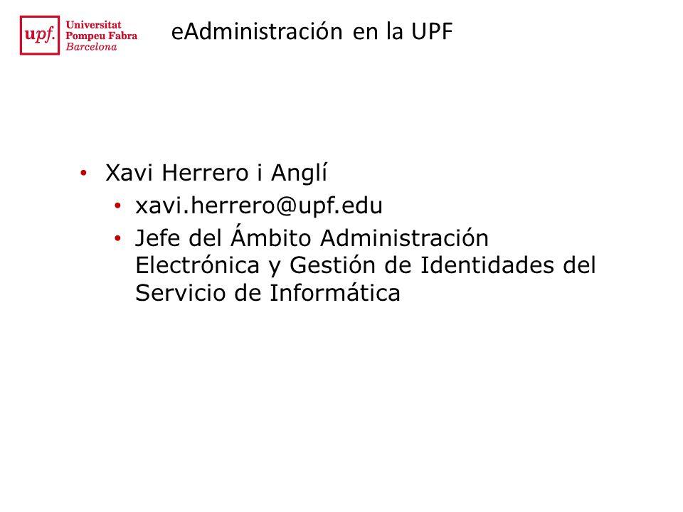Eskerrik asko Muchas gracias por vuestra atención Xavi Herrero i Anglí Servei dInformàtica de la UPF http://www.upf.edu/bibtic