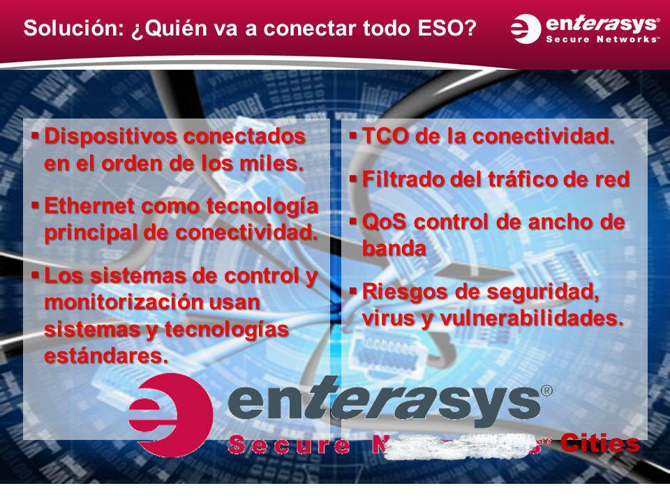 Solución: ¿Quién va a conectar todo ESO? Dispositivos conectados en el orden de los miles. Dispositivos conectados en el orden de los miles. Ethernet
