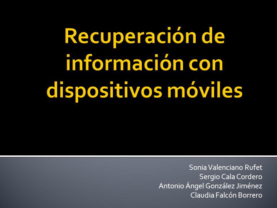 Sonia Valenciano Rufet Sergio Cala Cordero Antonio Ángel González Jiménez Claudia Falcón Borrero
