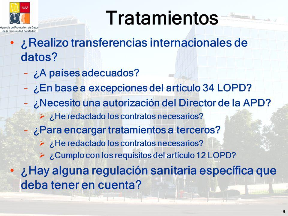9 ¿Realizo transferencias internacionales de datos.