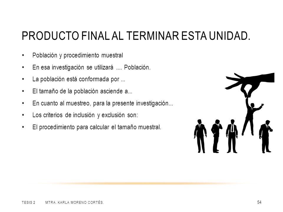 PRODUCTO FINAL AL TERMINAR ESTA UNIDAD.TESIS 2 MTRA.