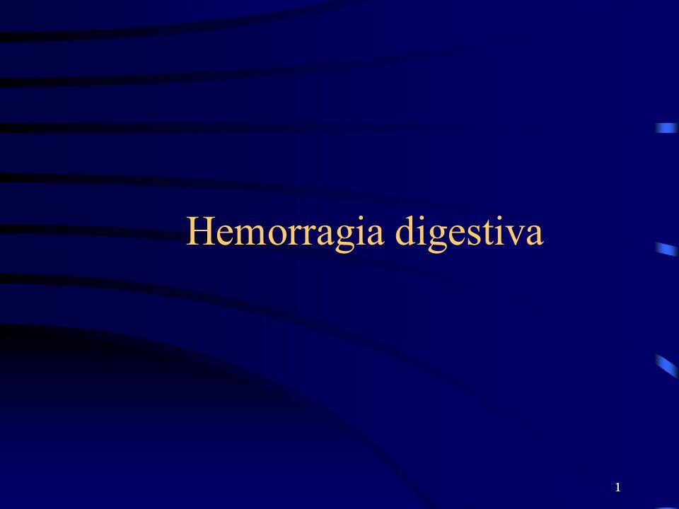 2 DEFINICIÓN La hemorragia digestiva es la pérdida de sangre a través o por el tubo digestivo.