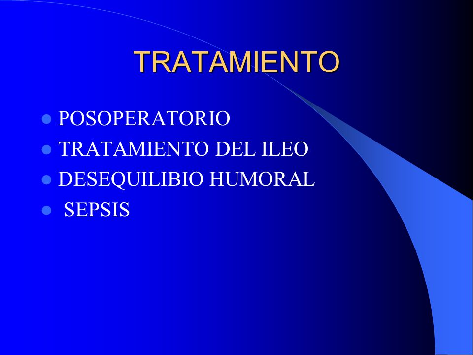 TRATAMIENTO INTRAOPERATORIO EXTIRPACIÓN, EXTERIORIZACIÓN, O REPARACIÓN DE LA CAUSA ASPIRACIÓN Y DRENAJE DE LA CAVIDAD LAVADO PERITONEAL INSICIONES MEDIANAS Y CIERRES EN 1 Ó 2 PLANOS CON SUTURA CONTINUA O DISCONTINUA ABDOMEN ABIERTO Y CONTENIDO