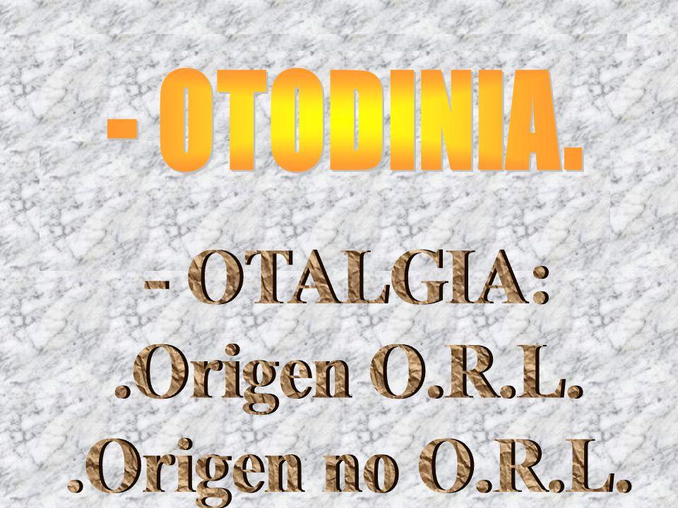 OÍDO DOLOROSO EN LA EMERGENCIA O.R.L.