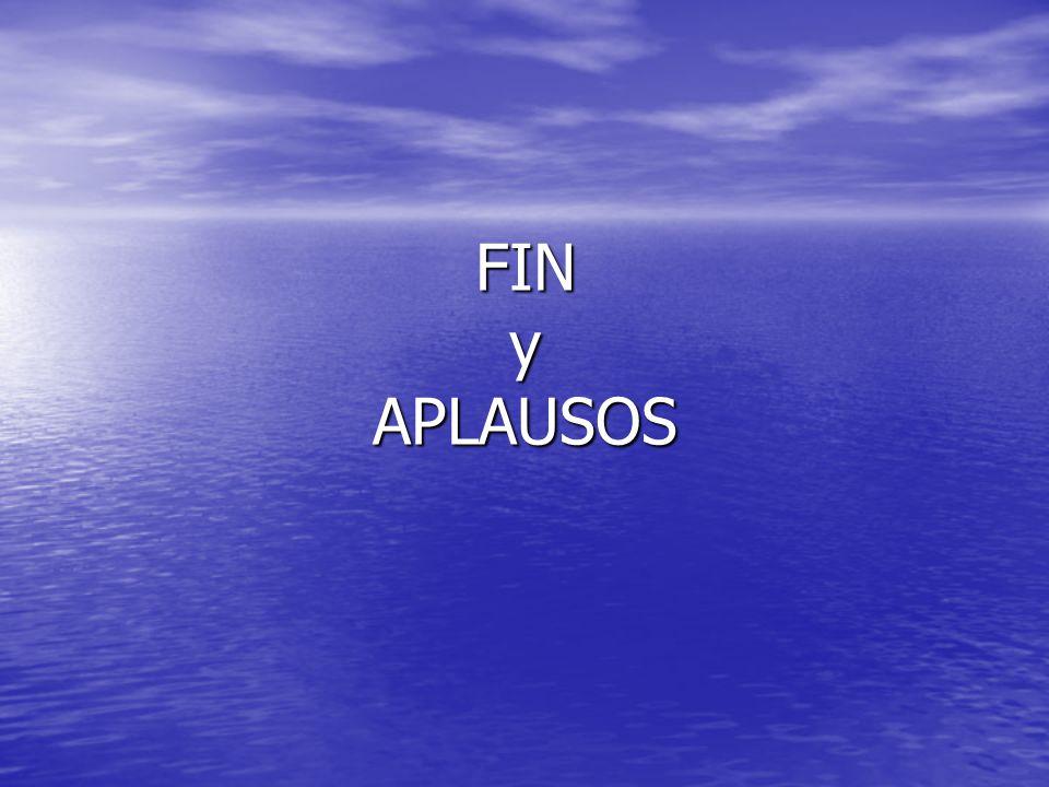 FIN y APLAUSOS