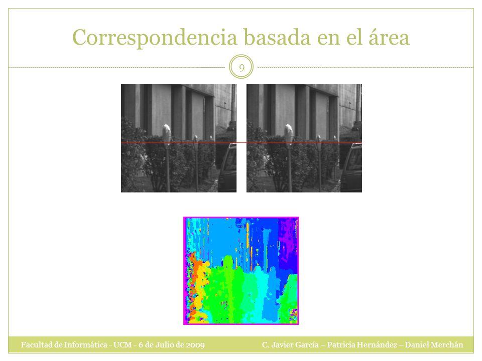 Correspondencia basada en el área Facultad de Informática - UCM - 6 de Julio de 2009 C.