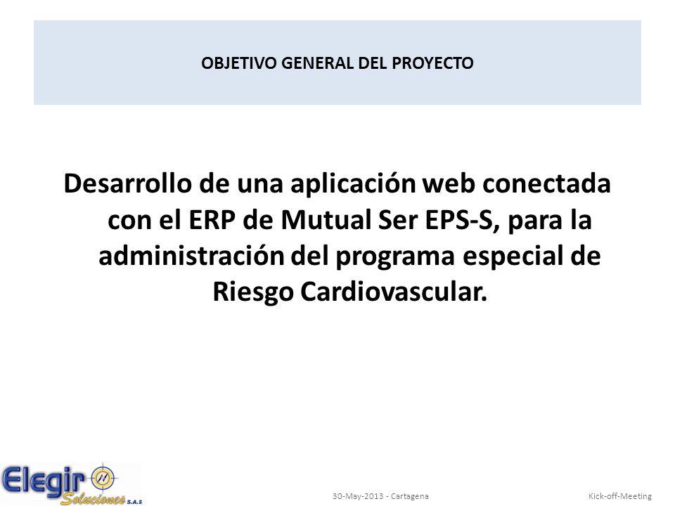 Desarrollo de una aplicación web conectada con el ERP de Mutual Ser EPS-S, para la administración del programa especial de Riesgo Cardiovascular. OBJE