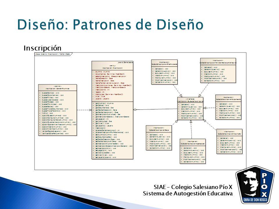 SIAE – Colegio Salesiano Pío X Sistema de Autogestión Educativa Inscripción
