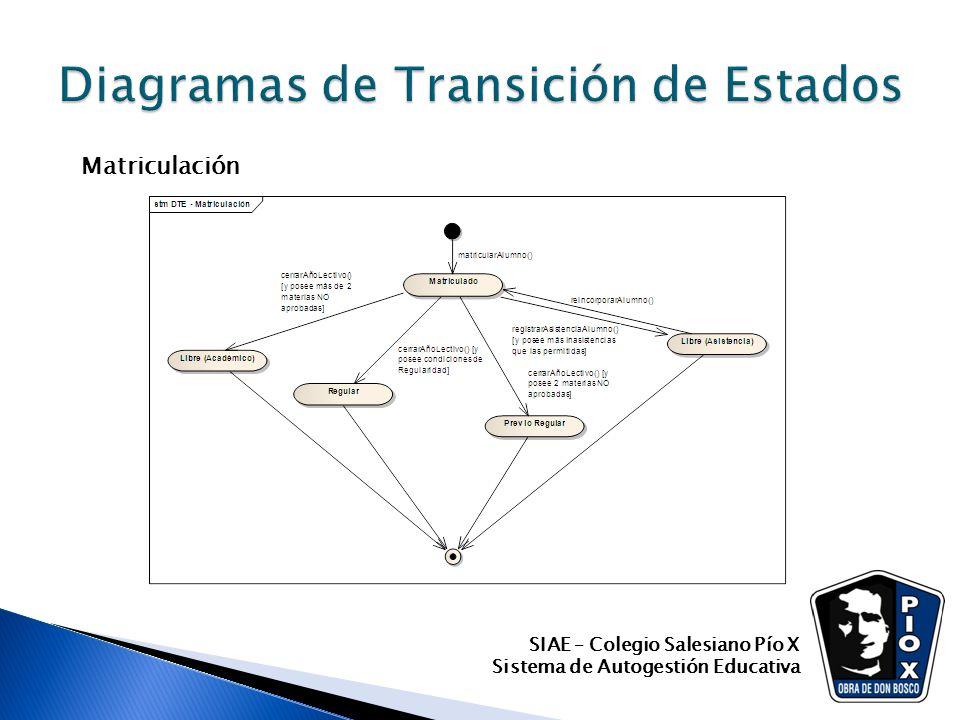 SIAE – Colegio Salesiano Pío X Sistema de Autogestión Educativa Matriculación