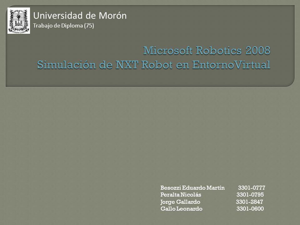 Universidad de Morón Trabajo de Diploma (75) Besozzi Eduardo Martín 3301-0777 Peralta Nicolás 3301-0795 Jorge Gallardo 3301-2847 Gallo Leonardo 3301-0