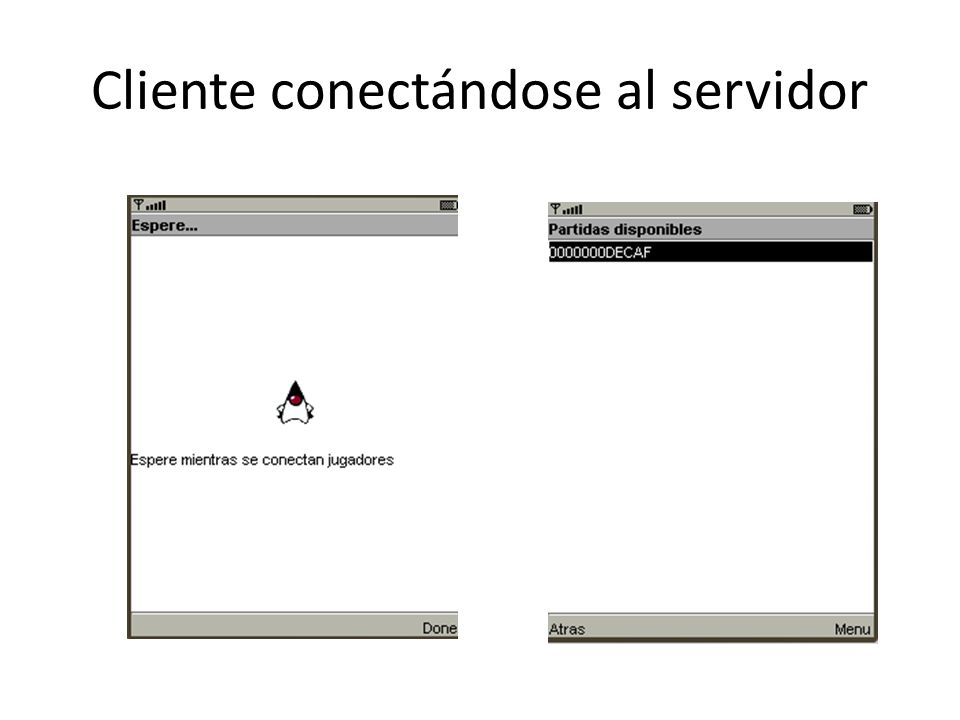 Cliente conectándose al servidor