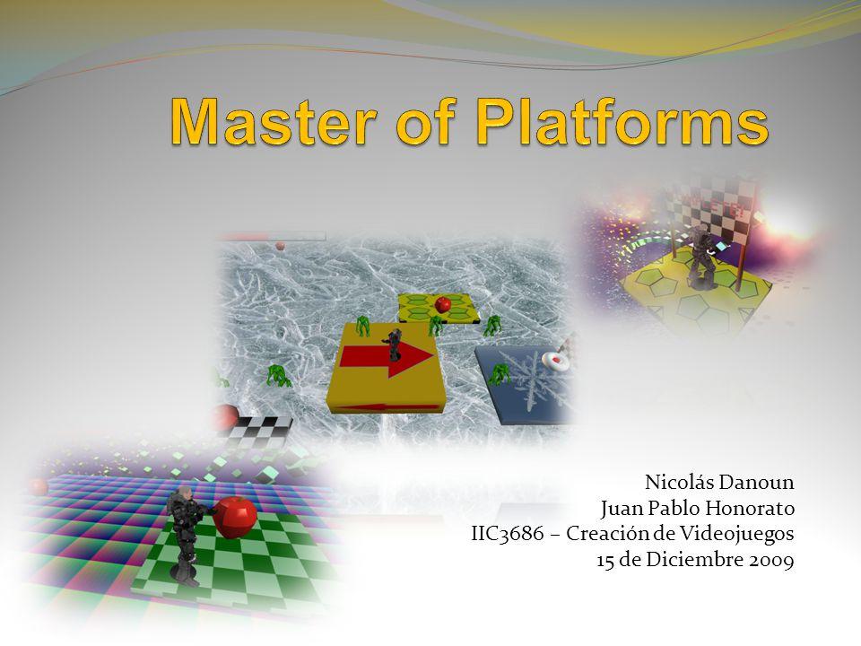 Diseño Historia Consiste en un player espacial que debe moverse a través de las plataformas, evitando enemigos y recolectando manzanas.