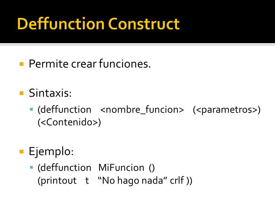 Permite crear funciones.