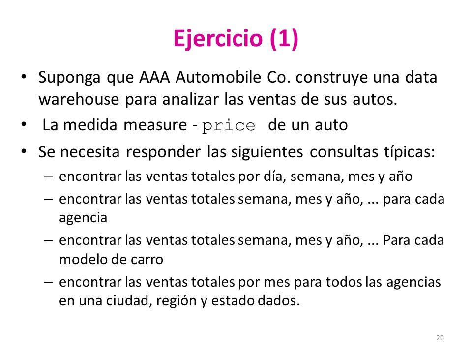 20 Ejercicio (1) Suponga que AAA Automobile Co.