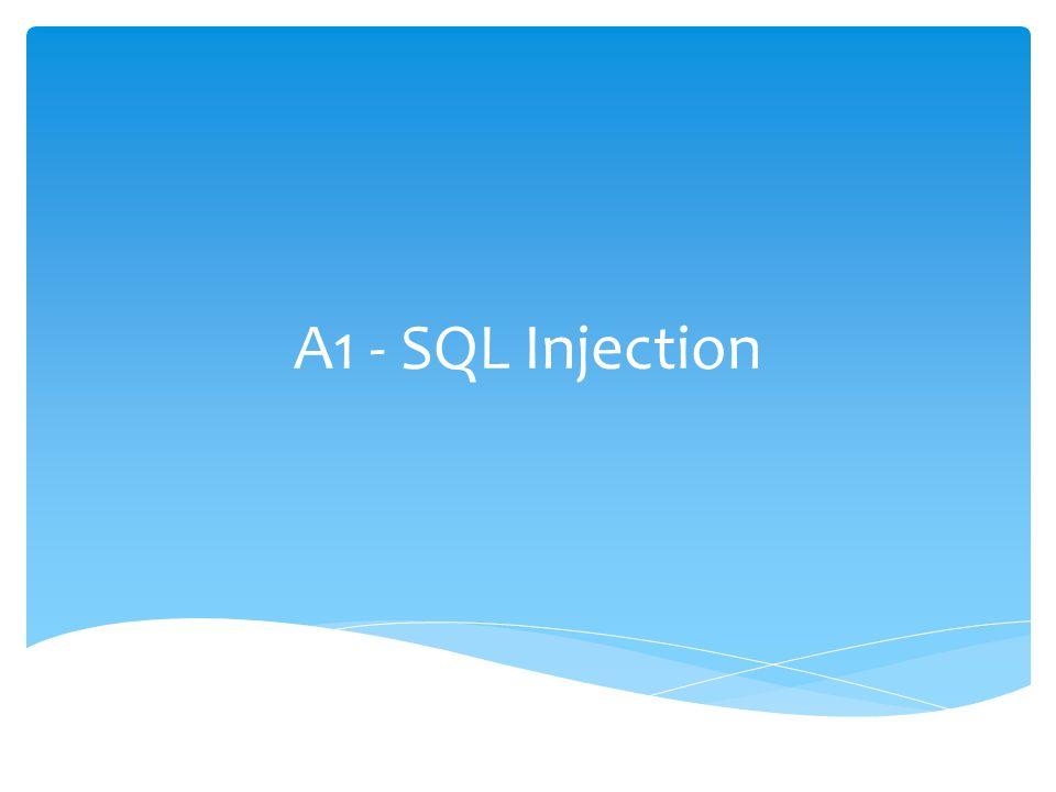SQL Injection Se inserta o inyecta código SQL invasor dentro del código SQL programado, a fin de alterar el funcionamiento normal del programa y lograr así que se ejecute la porción de código invasor en la base de datos.