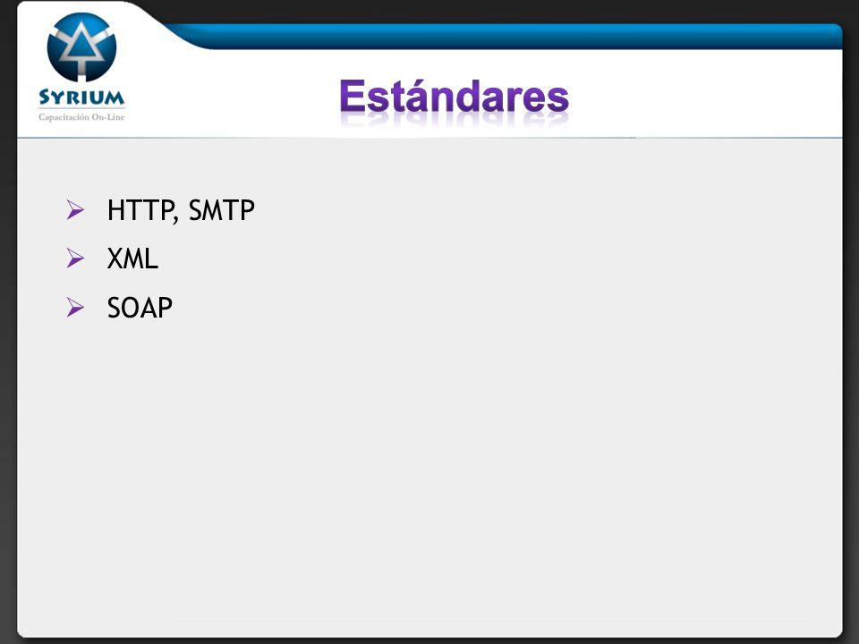 HTTP, SMTP XML SOAP