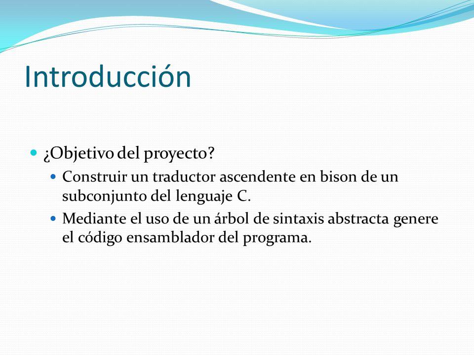 Introducción ¿Objetivo del proyecto.