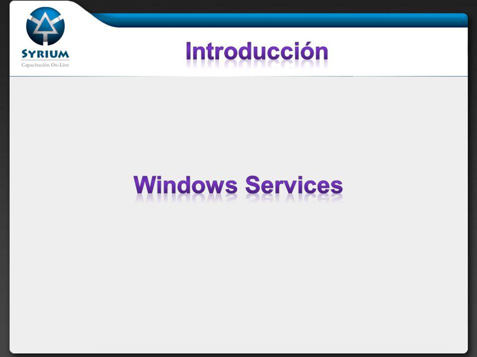 Introducción Desarrollo de Windows Services Instalación
