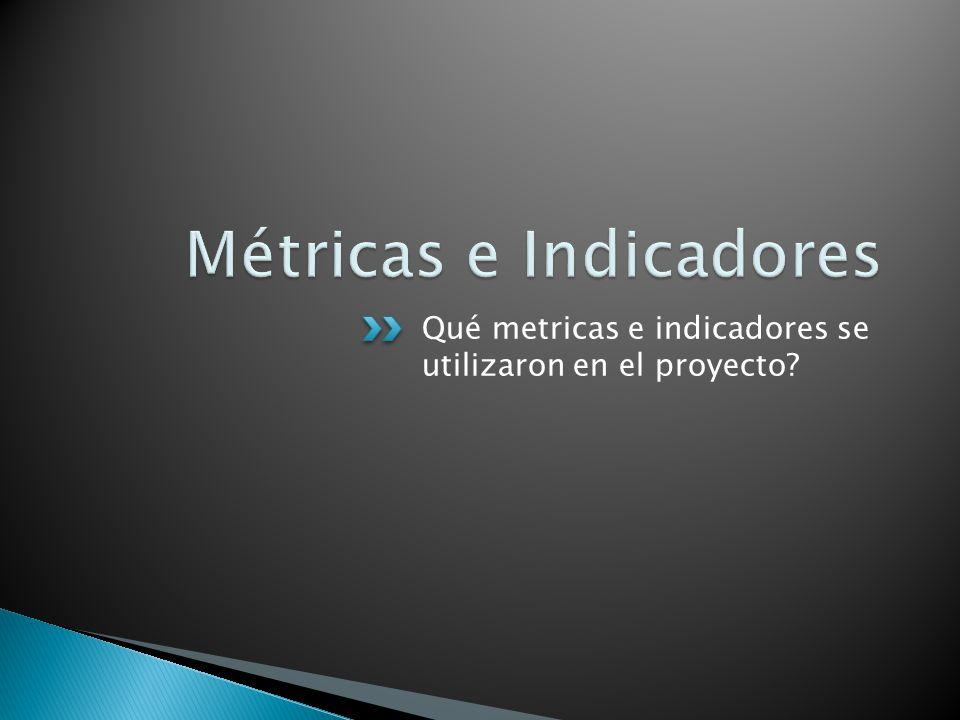 Qué metricas e indicadores se utilizaron en el proyecto?
