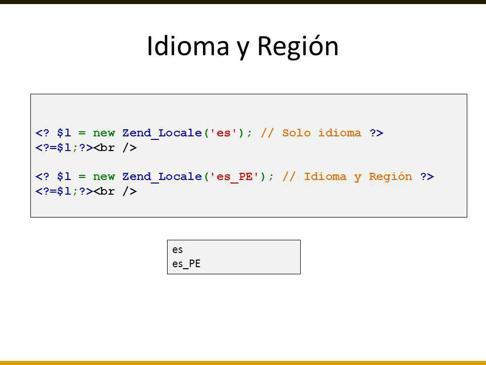 es es_PE Idioma y Región